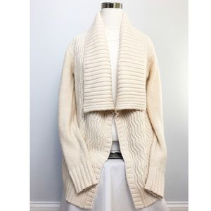 Target Merona wrap collar sweater texture detail